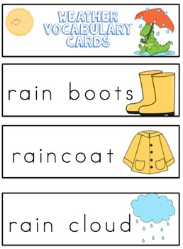 Free Weather Vocabulary Cards