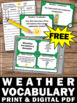 FREE Weather Unit, Weather Task Cards, 5th Grade Science Review Games