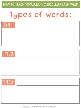 Free Webinar Workbook: How to Teach Vocabulary Each Week