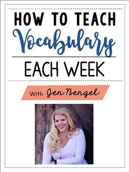 Free Webinar Workbook: How to Teach Vocabulary Each Week