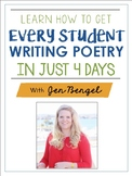 NEW! Webinar Workbook: Learn How to Get Every Student Writing in Just 4 Days!