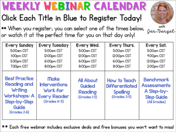 Free Webinars:  Register Here!