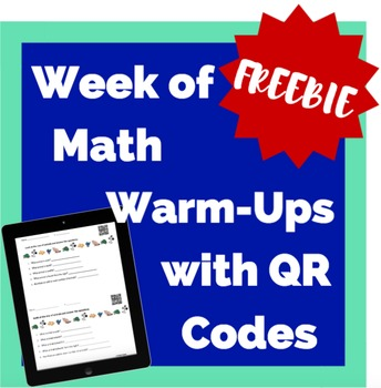 Free Week of Math Warm-Ups with QR Code Answers