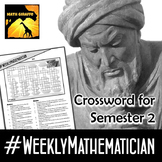 Free Weekly Mathematician Crossword (2nd Semester - #Weekl