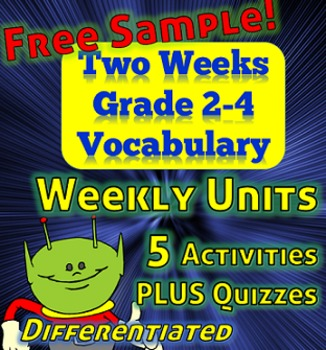 Free Weekly Vocabulary with Quizzes - Printable - Grades 2,3 and 4