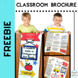 Free Back to School Editable Welcome to my Classroom Brochure