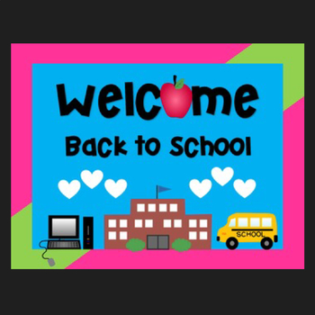 Free Welcome Back to School Sign {Clipart Featured on You Doodle App!}
