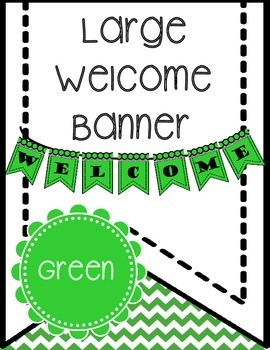 Free Welcome Banner (Green) Printable