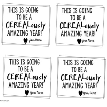 Free Welcome Gift  Tag of Cerealously Amazing Year