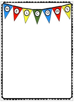 Free Welcome Pendant Banner Printable Paper from Charlotte's Clips