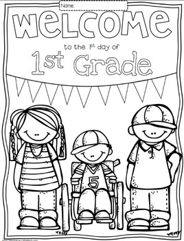 Free Welcome to Any Grade PreK through 6th Grade Coloring Sheets