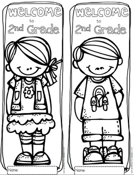Welcome to Any Grade {Pre-K through 6th Grade} Coloring Sheets