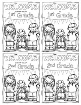 Free Welcome to Any Grade {Pre-K through 6th Grade} Coloring Sheets