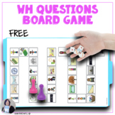 Free Wh Question Board Game Speech and Language