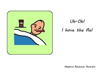 Free ~ When I am Sick Social Story : Influenza