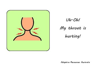 Free ~ When I am Sick Social Story : Sore Throat