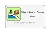 Free ~ When I am Sick Social Story : Tummy Ache