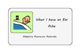 Free ~ When I am sick Social Story : Ear Ache