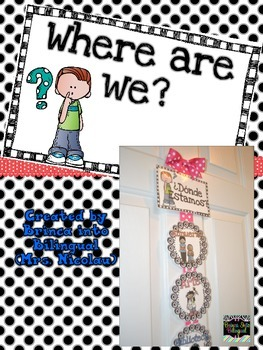 Free Where Are We Signs - Donde Estamos in Engl and Span