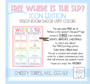 Free Where is the SLP Therapy Room Posters