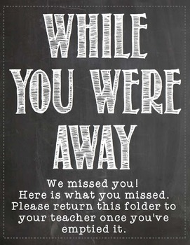 While You Were Away Folder Label