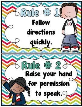 Free Whole Brain Teaching Class Rules