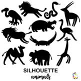 Free Wild Jungle Animal Silhouette Clipart