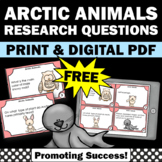 Free Arctic Animals Task Cards Sampler, Science Centers