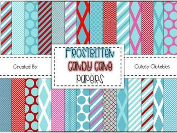 Free Winter Background Papers {Blues and Reds}