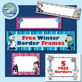 Free Winter Border Frame Package