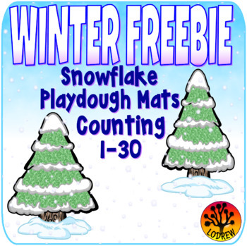 Free Winter Center Snowflake Counting To 30 Activities Fine Motor Centers OT