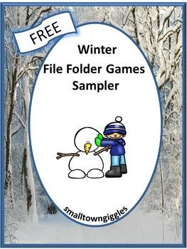 Free Winter File Folder Sampler For Centers and Station Ac