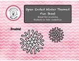 Free Winter Fun Sheet