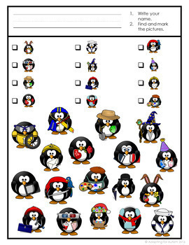 Free Winter Game: Penguin Find It adapted with 3 levels