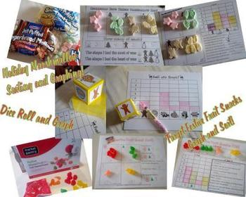 Free Winter & Gingerbread Dice And Graphing Resources Math Centers
