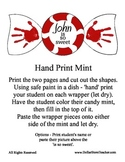 Winter Holiday Craft - Hand Print Mint - for Preschool and