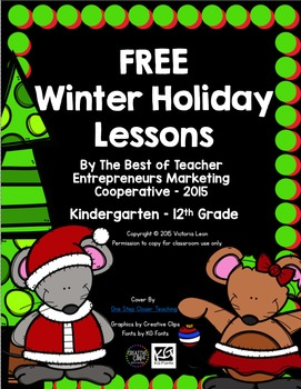 Free Winter Holiday Lessons By The Best of Teacher Entrepreneurs MC - 2015