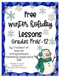 Free Winter Holiday Lessons By The Best of Teacher Entrepreneurs MC - 2017