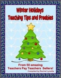 Free Winter Holidays Tips and Freebies Ebook - 50 TpT Cont