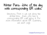 Winter Joke of the Day with QR codes
