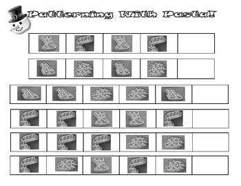 Free Winter Macaroni Kraft Shapes Math Activities
