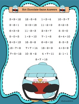 Free Downloads Penguin Winter Math Game! Addition and Subtraction!