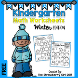Free Kindergarten Math Worksheets - Winter