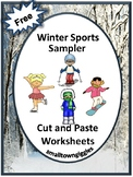 Winter Cut and Paste, Math and Literacy Centers, Free Sample, Special Education