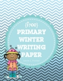 *Free* Winter Primary Writing Paper
