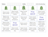 Free Winter Reading Bingo