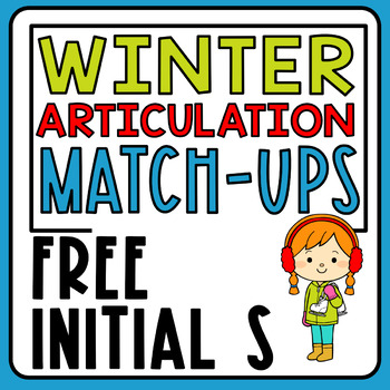 Free Winter S Sound Articulation Match-Ups| Speech Therapy | Articulation