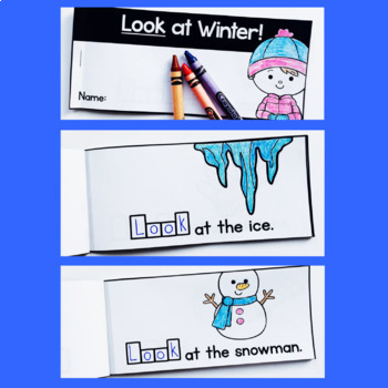 Free Winter Sight Word Interactive Reader: look