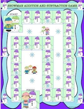 Free Downloads Winter Activities! Snowman Math Game! Fun! Centers!