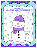 Free Downloads Winter Activities! Snowman Math Game! Fun!